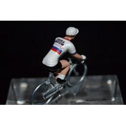 Champion de Slovaquie 2016/2017 Juraj Sagan - petit cycliste miniature en metal