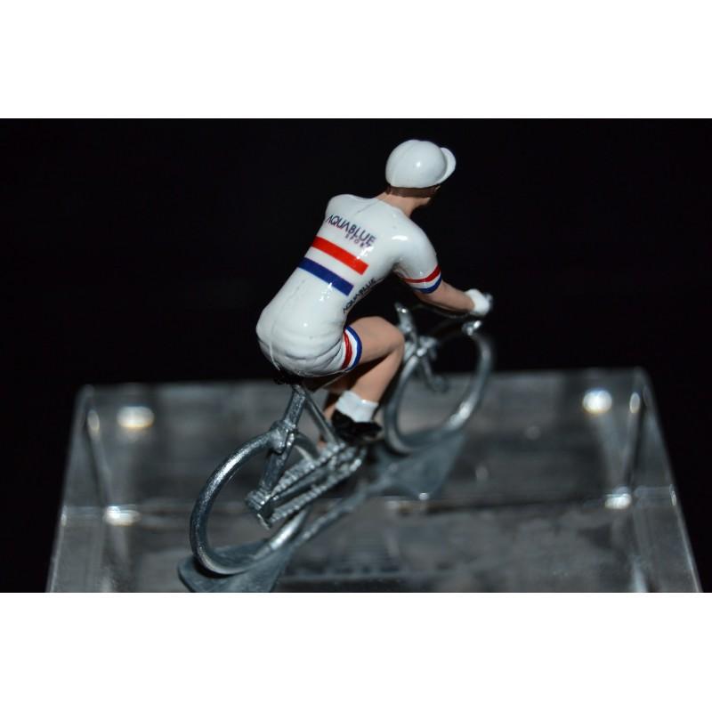 Champion de Grande Bretagne 2016/2017 Adam Blythe - petit cycliste miniature en metal