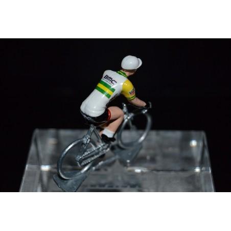 Champion d'Australie 2016/2017 Miles Scotson - petit cycliste miniature en metal