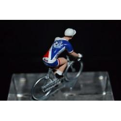 FDJ Nouvelle Aquitaine 2017 - petit cycliste miniature en metal