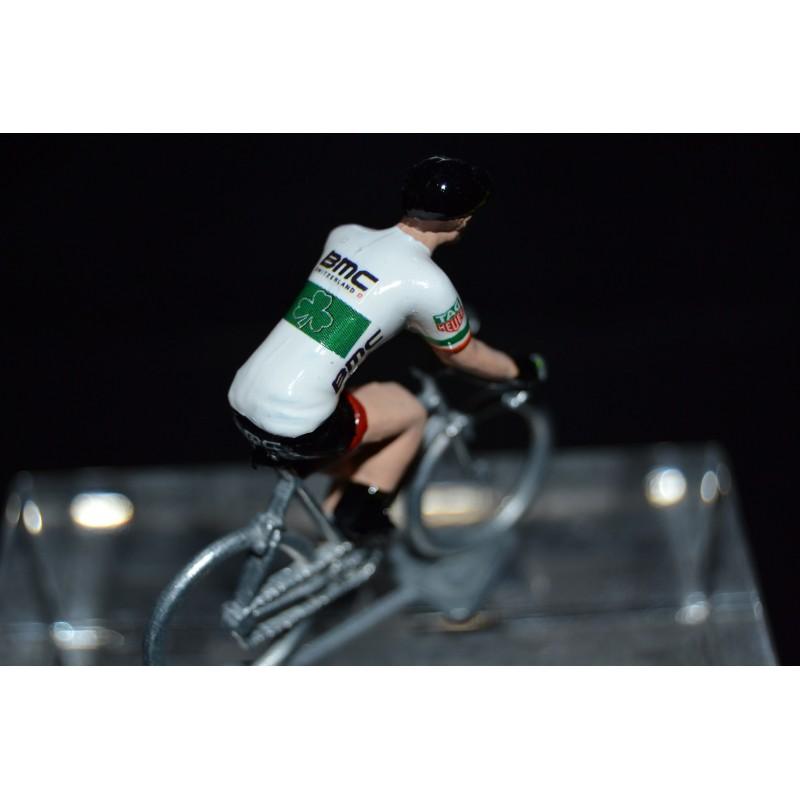 Champion d'Irlande 2016/2017 Nicholas Roche - petit cycliste miniature en metal
