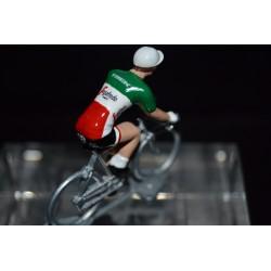 Champion d'Italie 2016/2017 Giacomo Nizzolo - petit cycliste miniature en acier