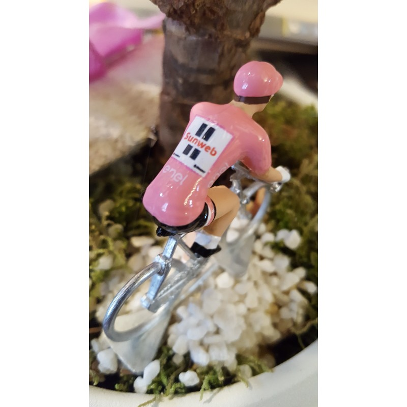"Tom Dumoulin ""Winner Giro 2017, pink jersey"" - cycling figurine cyclist"