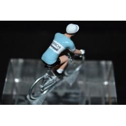 Bianchi Campagnolo - petit cycliste en métal zamak