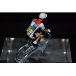 La vie claire - petit cycliste en plomb metal zamak