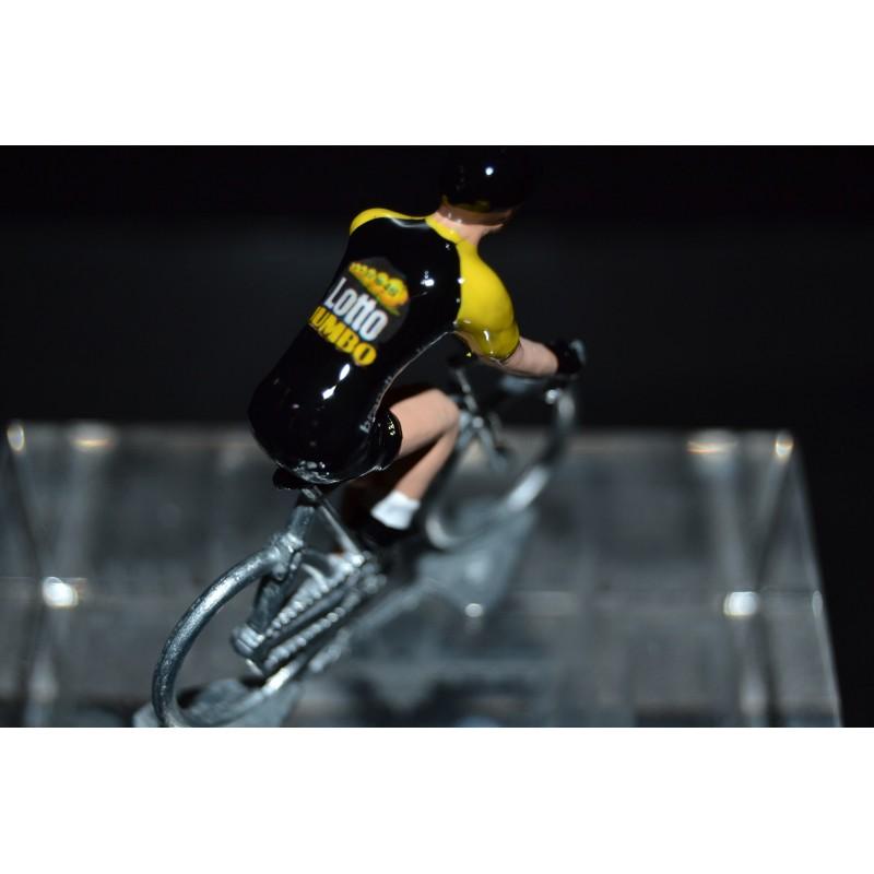 Lotto Jumbo Noir Tour de France 2017 - petit cycliste en acier