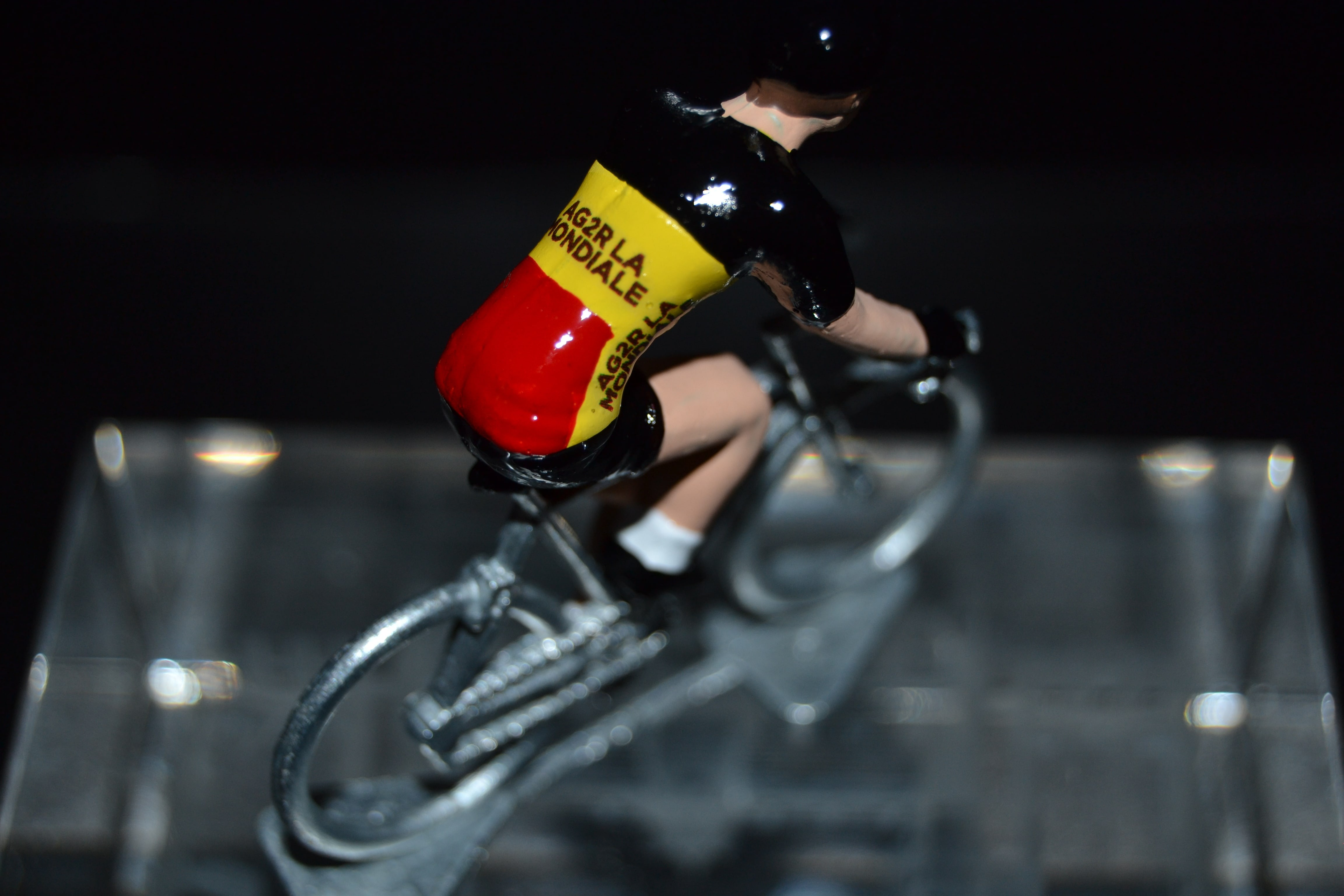 UAE Abu Dhabi 2018 Cycling figure Petit cycliste Figurine