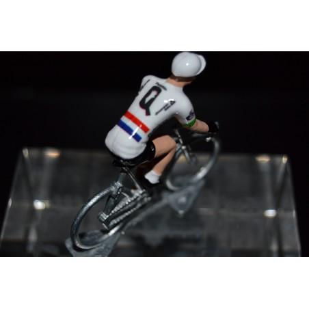 Champion Royaume Uni Steve Cummings - petit cycliste en acier