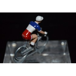France Champion 2016/2017 Arnaud Demare - petit cycliste miniature en metal