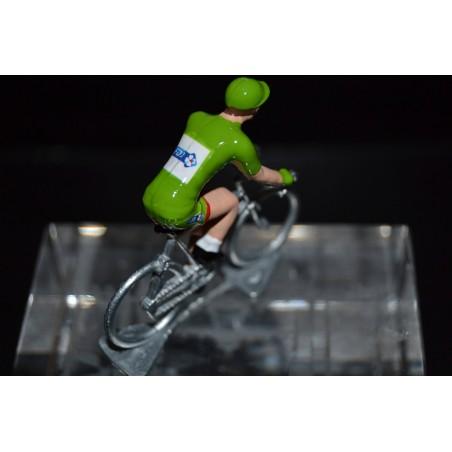 "Arnaud Demare ""maillot vert 2017"" FDJ- petit cycliste en acier"