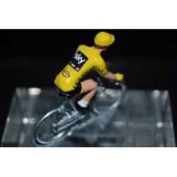 "Christopher Froome ""yellow jersey 2017"" Sky - petit cycliste en acier"