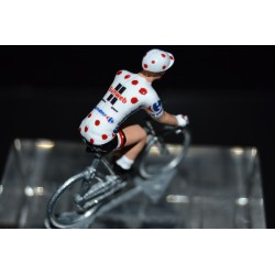"Warren Barguil ""polka dot jersey 2017"" Sunweb - die cats cycling figurine"
