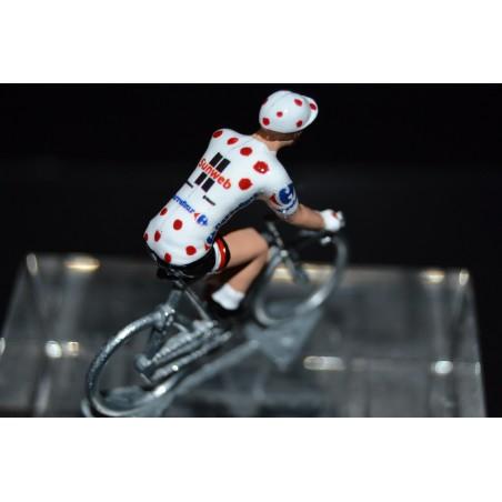 "Warren Barguil ""polka dot jersey 2017"" Sunweb - die cats cycling figurine"