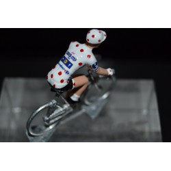 "Julian Alaphilippe ""maillot a pois 2018"" Quick Step - die cast cycling figurine cyclist"