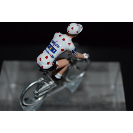 """Julian Alaphilippe """"maillot a pois 2018"""" Quick Step - die cast cycling figurine cyclist"""
