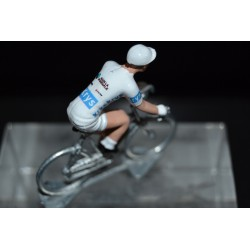 "Pierre Latour ""white jersey 2018"" AG2R - die cast cycling figurine cyclist"