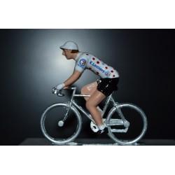 Maillot a pois Leclerc - figurine petit cycliste