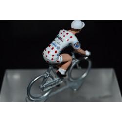 "Romain Bardet ""maillot pois 2019"" Ag2r  figurine petit cycliste"