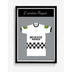 Poster Maillot Collector Peugeot
