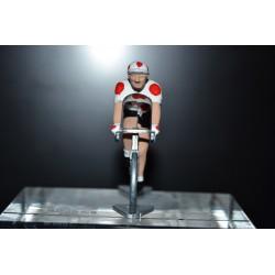 Cycliste maillot à pois