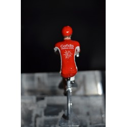 Cofidis - lot de  2 cyclistes miniatures en metal