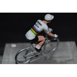 Alaphilippe Champion du Monde version 2021 - petit cycliste figurine