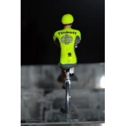 Tinkoff - petit cycliste miniature en metal