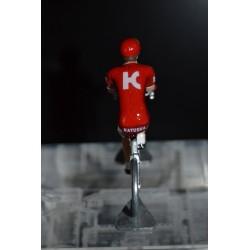 Katusha - petit cycliste miniature en metal