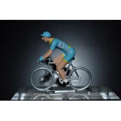 Astana- Petit cycliste en metal