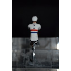 "Peter Kennaugh ""Great Britain Champion"" Sky - Hand painted die cast cyclist figurine"
