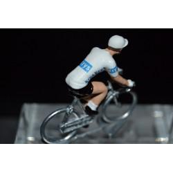 White jersey 2016 - metal  cyclist figurine