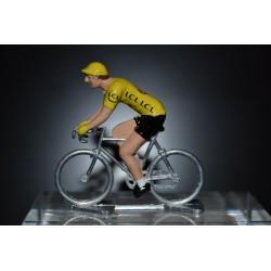 Maillot jaune 2016 - petit cycliste en metal