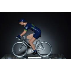 Movistar 2017 - Metal cycling figure