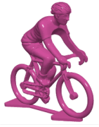 Cycling figurine in plastic